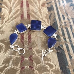 Authentic Vibrant  Blue Sapphire bracelet.Discounted shipping ♥️❤️♥️❤️♥️❤️